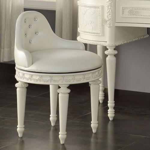 002KCH Pearl White Swivel Chair