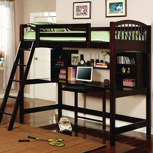 001TLB Casual Twin Workstation Loft Bunk