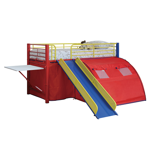 Item # 007TB Lofted Bed with Slide and Tent