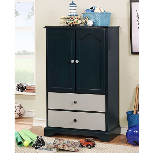 Item # 013AM Armoire w/ 2 Drawers in Blue