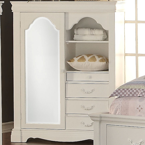 Item # 014AM Armoire w/ Mirror and Storage Drawers