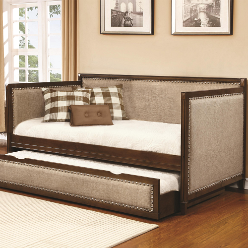015DB Twin Upholstered Daybed w/ Trundle