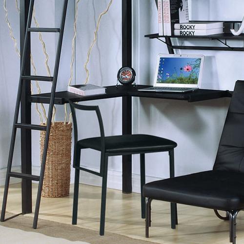 Item # 017CHR Metal Desk Chair in Black