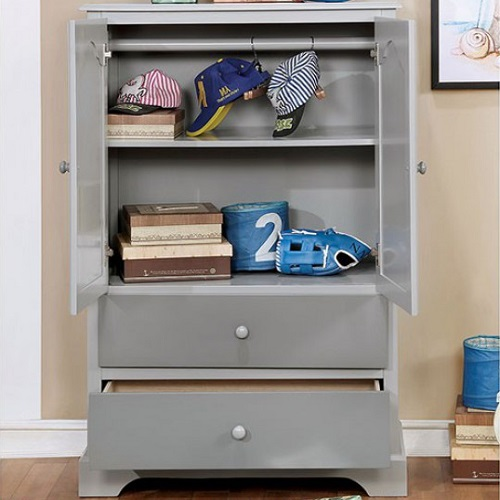 Item # 018AM Armoire in Gray