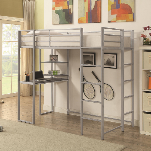 023MLB Twin Metal Loft Bed