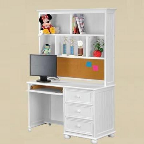Item # 039HC Large Hutch with Cork Board in White