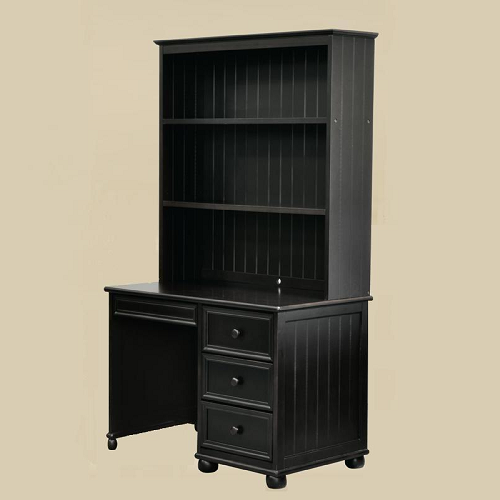 Item # 041HC Hutch for Computer Desk in Black