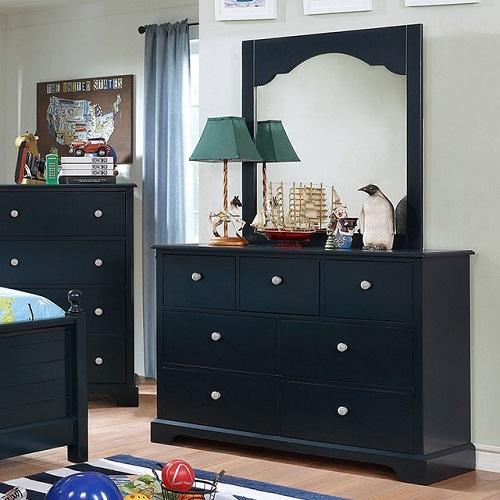 Item # 043DR 7 Drawer Dresser in Blue
