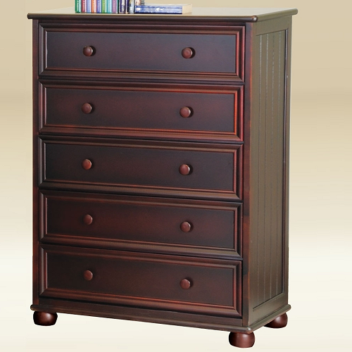Item # 296CH 5 Drawer Chest in Walnut