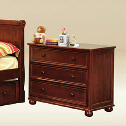 Item # 056CH Three Drawer Chest in Dark Pecan