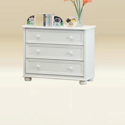 Item # 057CH 3 Drawer Chest Bead Board in White