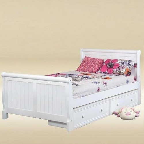 Item # 0508 Full Sleigh Bed in White