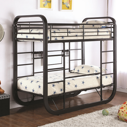 143MBB Metal Twin/Twin Convertible Workstation Loft Bunk Bed