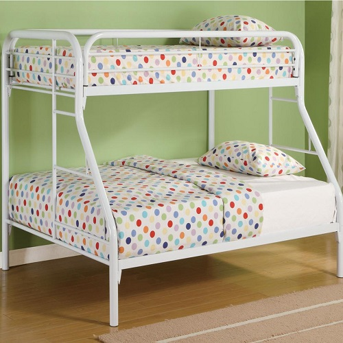 013MBB Twin/Full Bunk Bed w/ Side Ladders