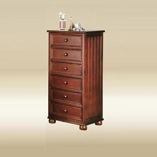 Item # 242CH Six Drawer Lingerie Chest in Dark Pecan