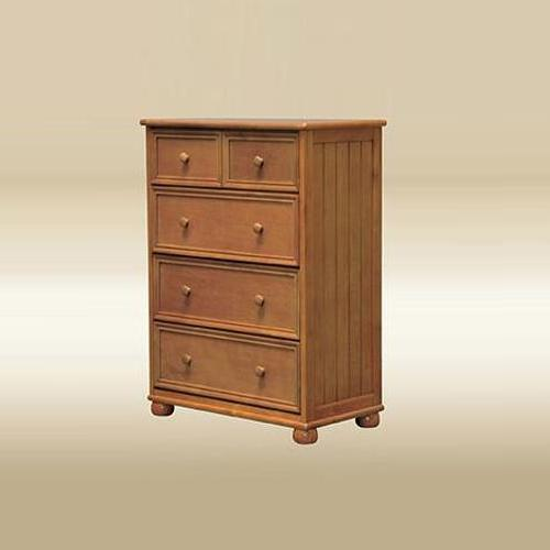 Item # 275CH Five Drawer Chest in Pecan