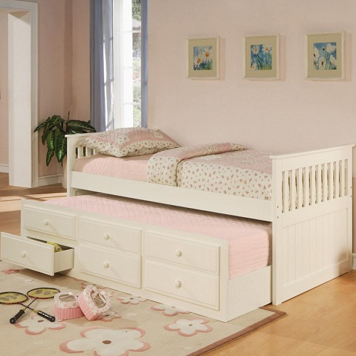 003WDB Twin Captain's Bed W/Trundle and Storage Drawers