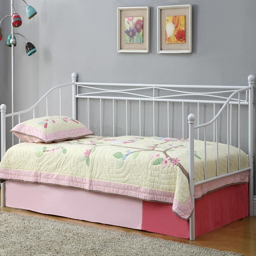 009MDB Casual Daybed with White Metal Frame