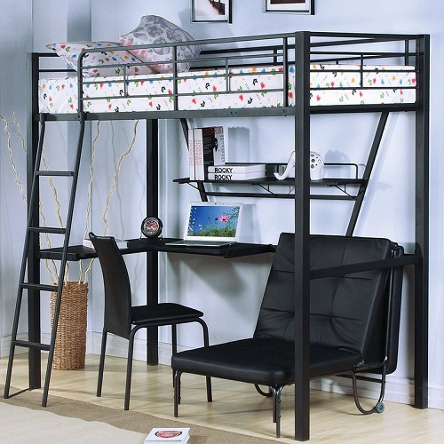 Item # MLB011 Twin Loft Bed With Desk
