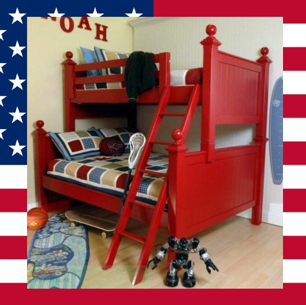 Item # US0012 4 Post twin over twin bunk bed