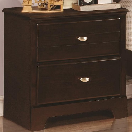 004NS Night Stand with 2 Drawers