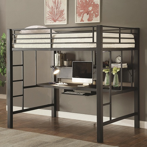 007MLB Workstation Full Loft Bed