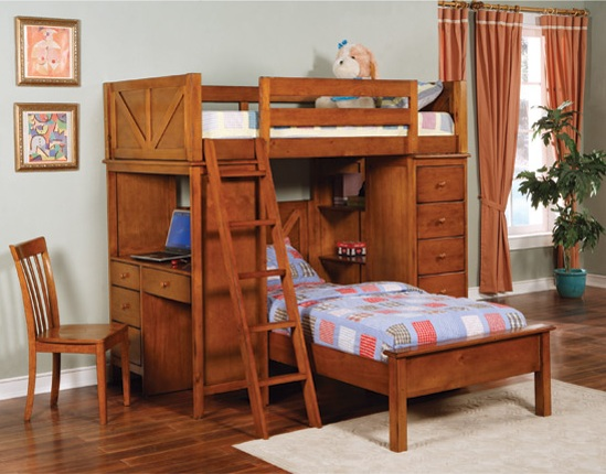460133 Workstation Bunk Bed