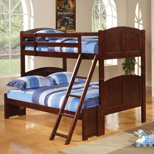 A0066TF Twin Over Full Panel Bunk Bed
