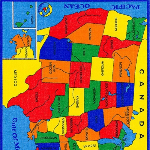 Item # 03 US Map Rug
