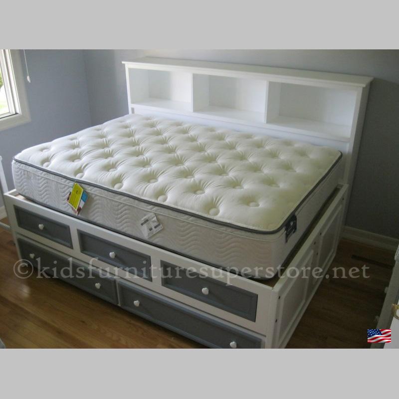 Aubrey Bookcase and storage daybed