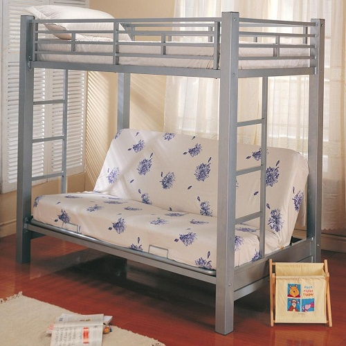 MLB015 Multi-Functional Twin Over Futon Metal Bunk Bed