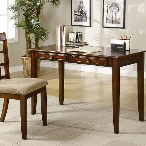 Item # 081D Wood Table Desk w/ Two Drawers & Desk Chair