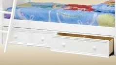 1602W Two Under Bed Drawers in White