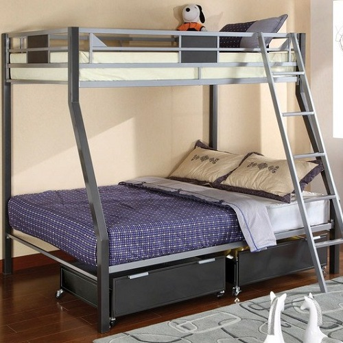 041MBB Twin/Full Metal Bunk Bed