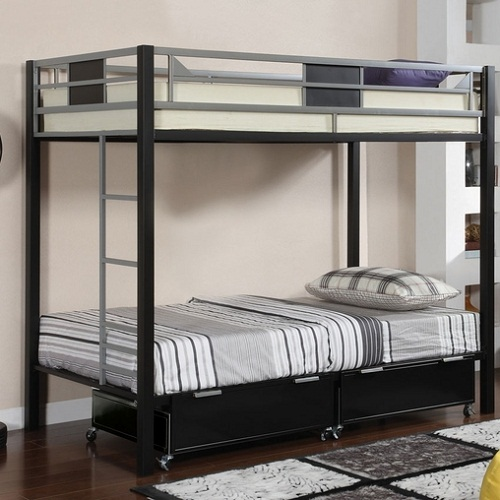 047MBB Twin over Twin Metal Bunk Bed