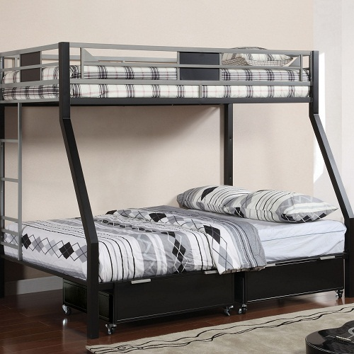 046MBB Twin over Full Metal Bunk Bed