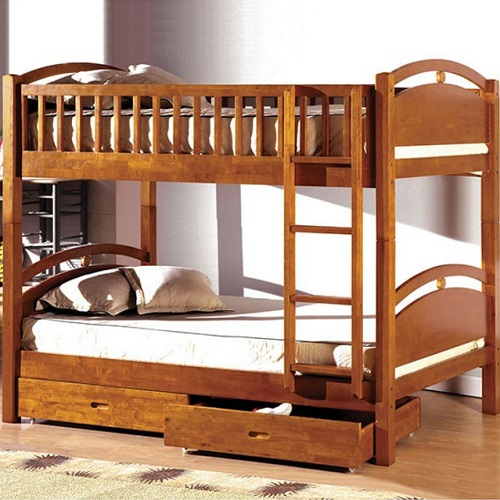A0114TT Twin/Twin Bunk Bed W/ 2 Drawers