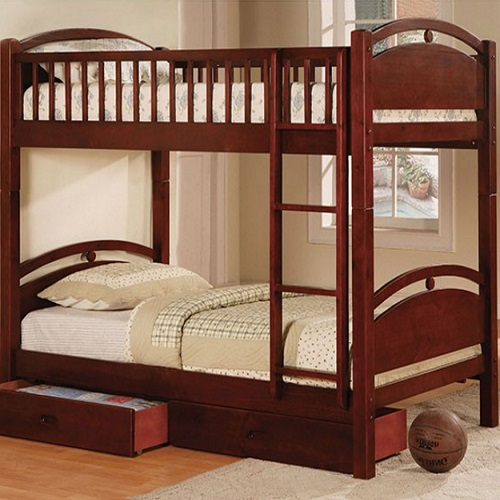 A0086TT Twin/Twin Bunk Bed W/ 2 Drawers