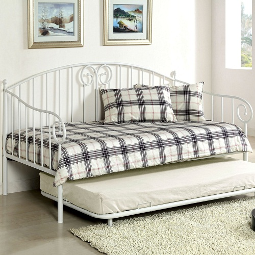 015MDB Metal Daybed in White