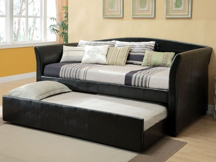 Item # 039DB Delmar Collection Black Daybed w/Trundle