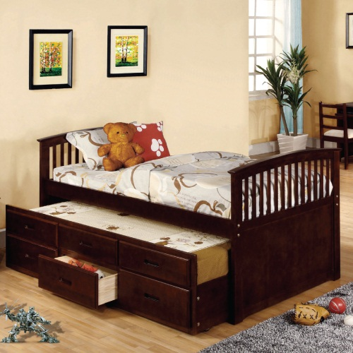 010CB Twin Bed W/Trundle