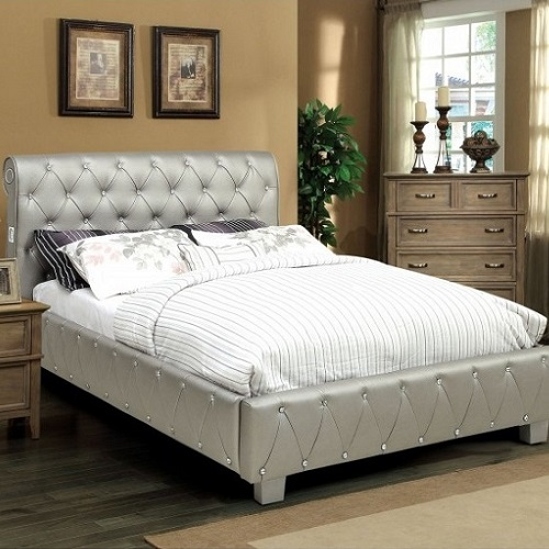 0148F Padded Leatherette Full Bed