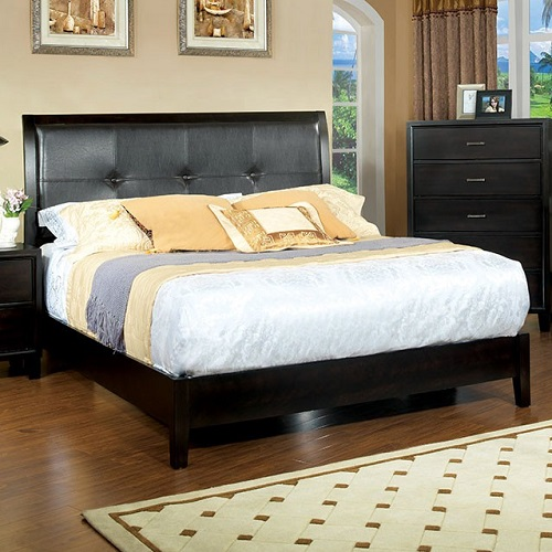 Item # 1079FB Full Padded Leatherette Bed