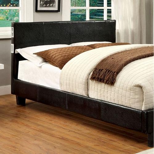 0137T Full Leatherette Upholstered Bed