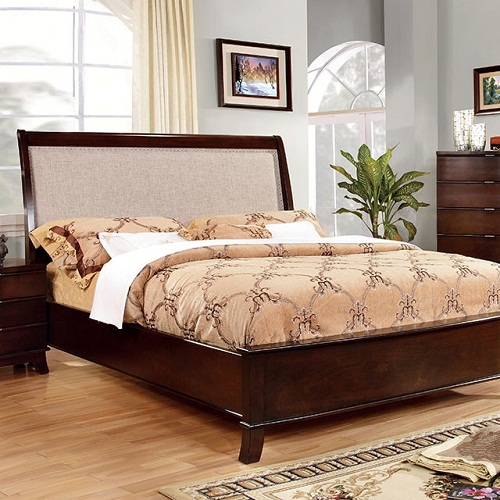 Item # 044Q Padded Headboard Queen Bed