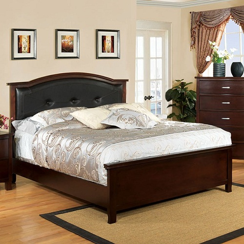 Item # 050Q Padded Leatherette Headboard Queen Bed