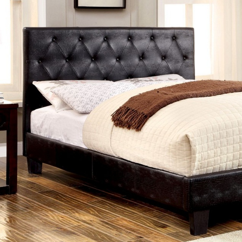 0143T Platform Leatherette Twin Bed
