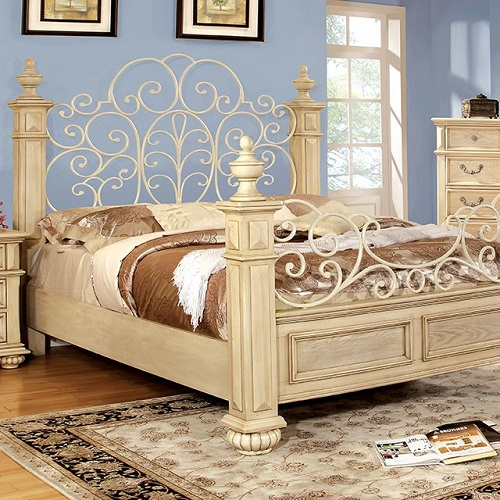 Item # 063Q Queen Bed Floral Design