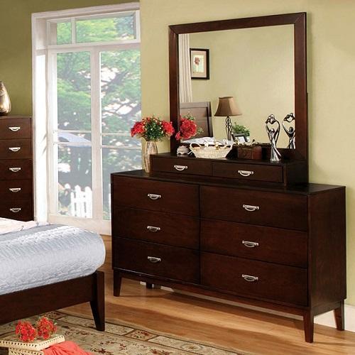Item # 135DR Elegant Brown Cherry Dresser