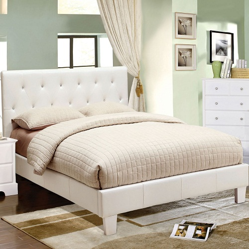 Item # 1044FB Platform Leatherette Twin Bed